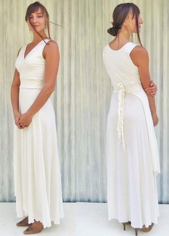 Organic Jersey Wrap Wedding Dress - Custom Made - Lilian Bridal Dress
