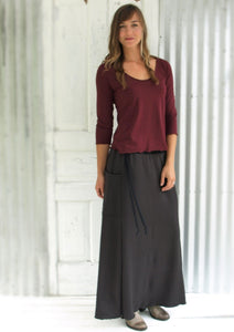 Fleece Pamina Pocket Skirt - Handmade Organic Clothing