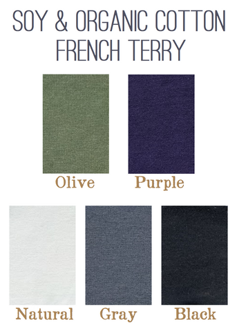 Soy & Organic Cotton French Terry Color Samples