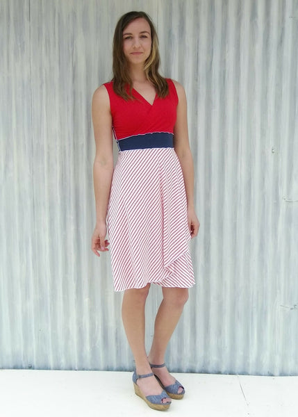 Cherry Stripe Araminta Dress
