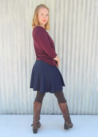 Abby Skirt (Custom Made Bamboo Fleece Mini A-Line Skirt) - Handmade Organic Clothing