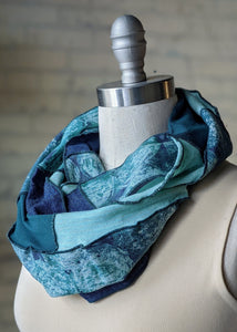 Teal Bubble Infinity Scarf