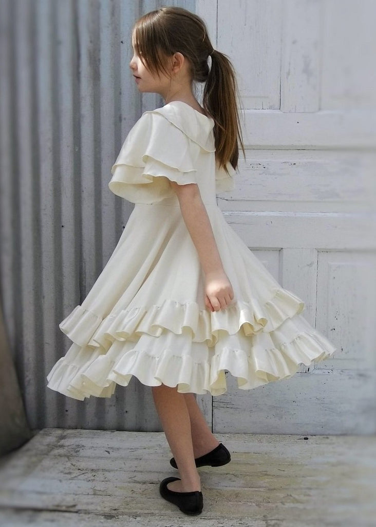 1f7a3b7c4e2 ... Flower Girl Double Layer Circle Dress with Silk Ruffles - Custom Made  Charolette Girls Dress ...