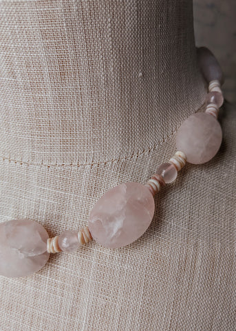Elizabeth Rose Necklace - Handmade Organic Clothing