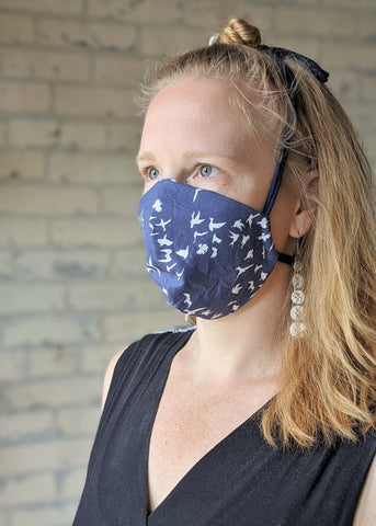 Basic Bird Print Mask