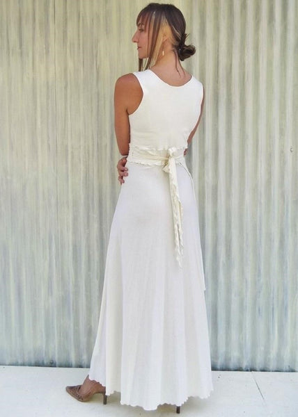 Organic Jersey Wrap Wedding Dress - Custom Made - Lilian Bridal Dress - Handmade Organic Clothing