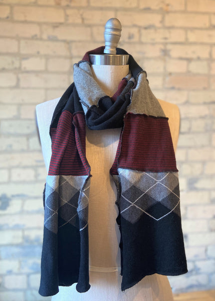 Patchwork Salvaged Wool Scarf