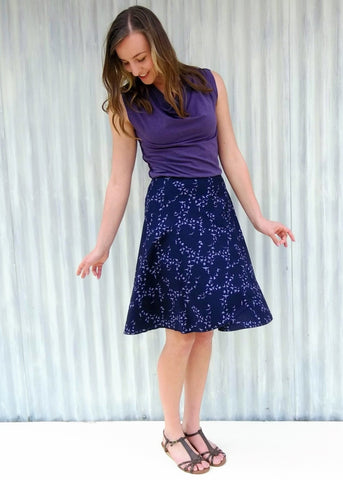 Warbler Wrap Skirt (Custom Made) - Handmade Organic Clothing