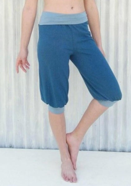 Hemp & Organic Cotton Capri Yoga Pants - Custom Made - Rosetta Pants - Yana Dee