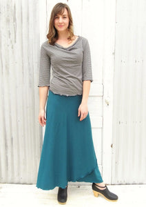 Organic Maxi Wrap Skirt - Custom Made - Iris Skirt