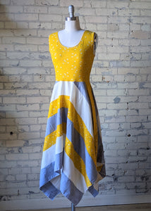 Yellow Daisy Square Dress