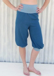 Hemp & Organic Cotton Capri Yoga Pants - Custom Made - Rosetta Pants - Handmade Organic Clothing