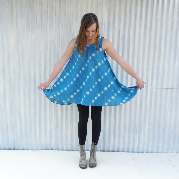 Blue Dress with Pockets
