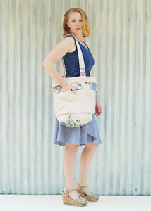 Canvas Market Bag - Ready to Ship - Handmade Organic Clothing