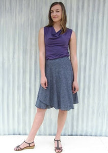 Organic Cotton Midi Wrap Skirt - Custom Made - Cardamom Skirt - Yana Dee
