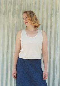 Organic Cotton Tank Top - Custom Made Lynn Top - Handmade Organic Clothing