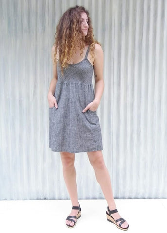 Nadia Denim Pocket Dress (Custom Made)