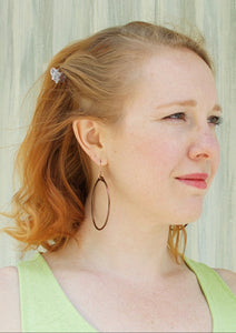 Salvaged Copper Hoop Earrings - Handmade Organic Clothing