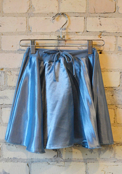 Silk Drawstring Circle Skirt