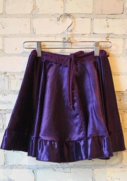 Silk Drawstring Circle Skirt - Handmade Organic Clothing