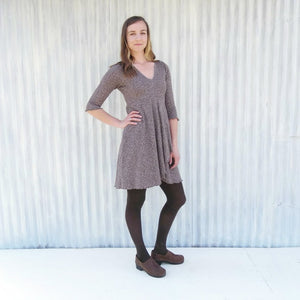 Hemp Fall Dress - Custom Made Paige Dress with 3/4 Sleeves & Lined Bodice - Yana Dee