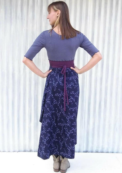 Midnight Migration Maxi Wrap Dress -Custom Made Nightingale Dress - Handmade Organic Clothing