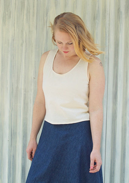 Lynn Tank Top (Custom Made) - Handmade Organic Clothing