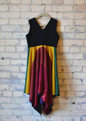 Junior Rainbow Square Dress - Handmade Organic Clothing