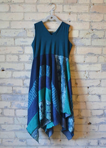 Junior Teal Square Dress - Handmade Organic Clothing