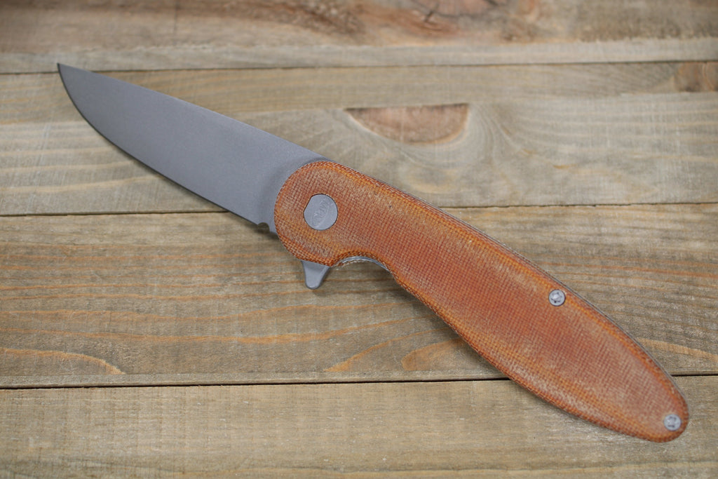 Model 1 V5 Canvas Micarta (Light Brown)