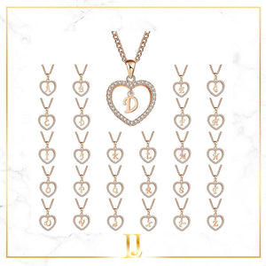 Customize Heart Letter Name Necklace - Limitless Jewellery