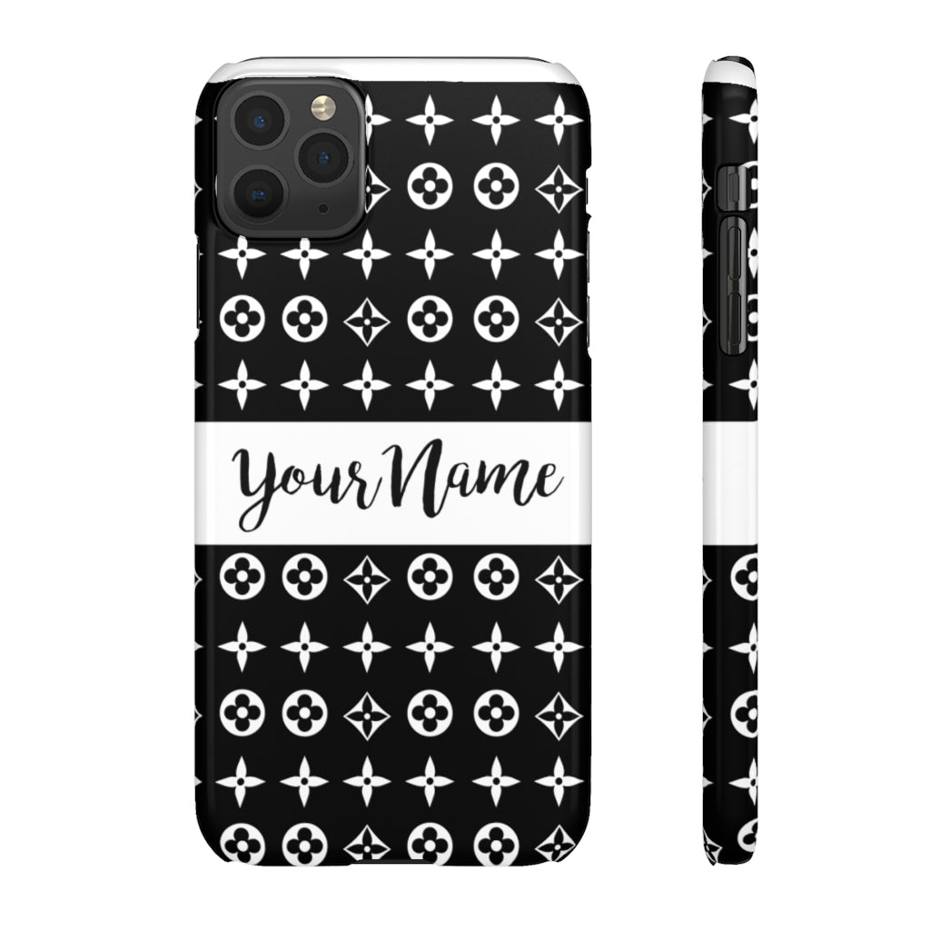 Personalized Floral Print Phone Case