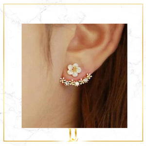 Cute Cherry Blossoms Flower Stud Earrings - Limitless Jewellery