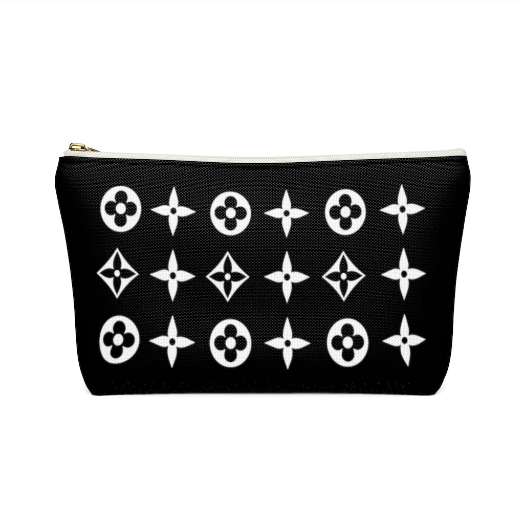 Floral Print Accessory Pouch w T-bottom - Limitless Jewellery