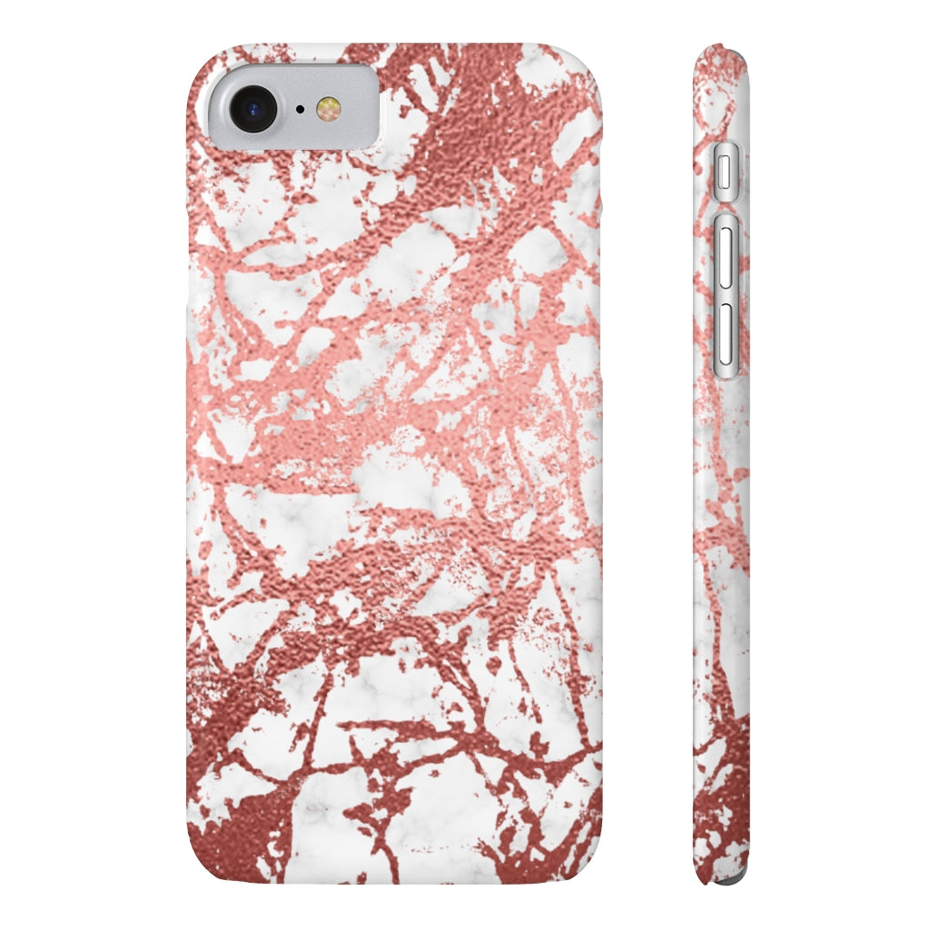 Marble with Rose Gold Accents Case Mate Slim Phone Case