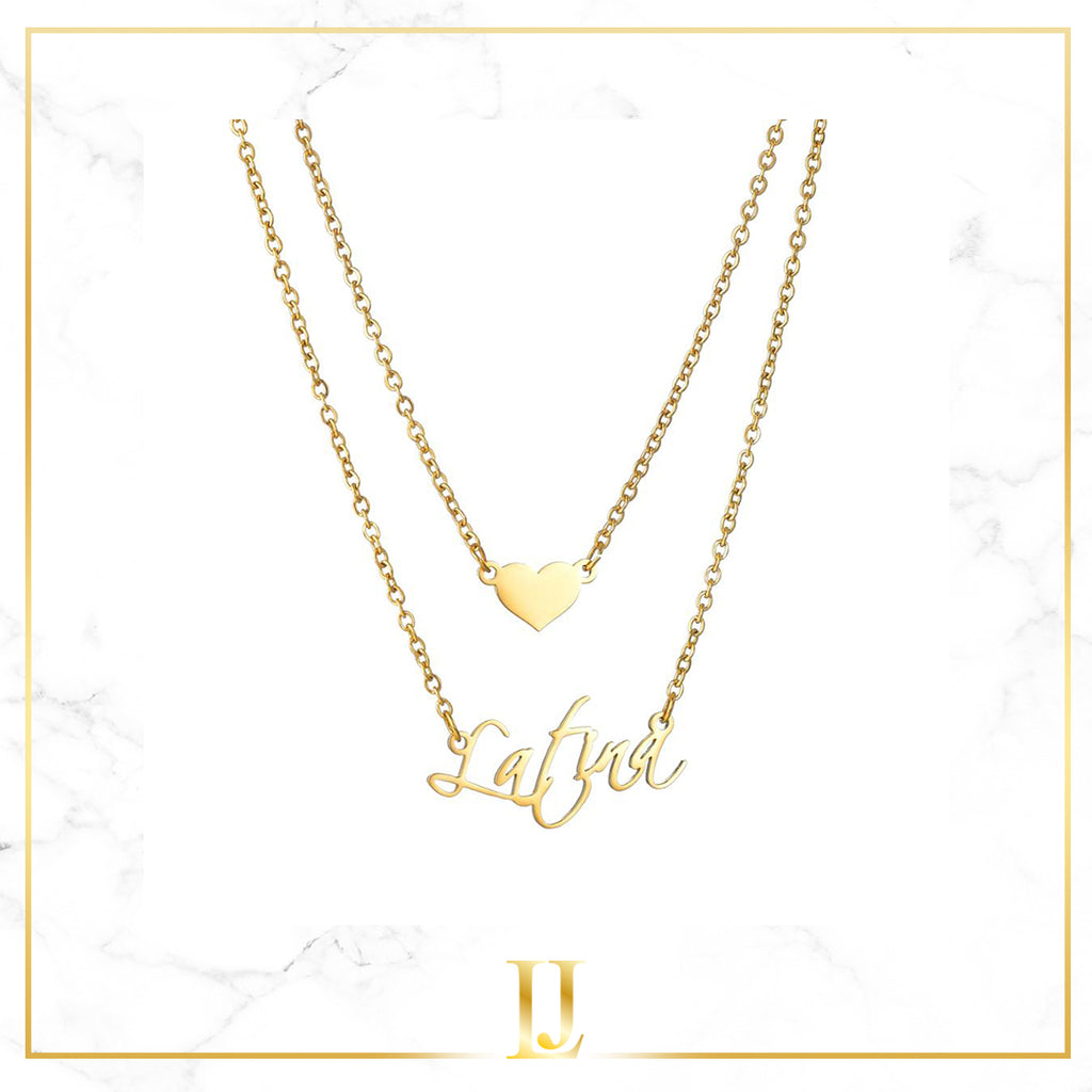 Personalized Heart Name Necklace - Limitless Jewellery