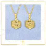 A-Z Name Hexagon Pendant Necklace - Limitless Jewellery