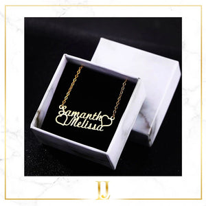 Personalized Cursive Heart Necklace - Limitless Jewellery