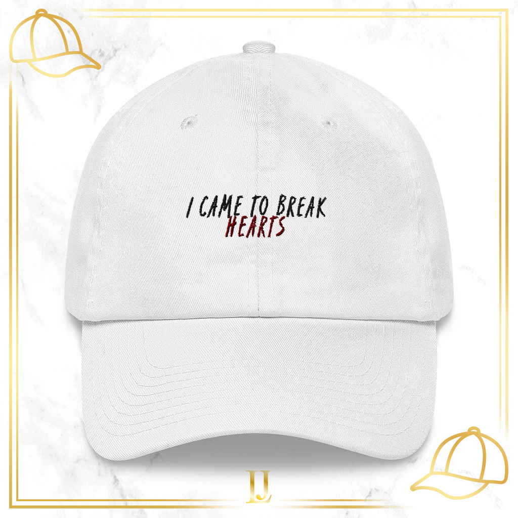 """I Came To Break Hearts"" Cap - Limitless Jewellery"