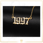 Iced Birth Year Necklace
