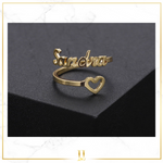 Personalized Heart Ring- Limitless Jewellery