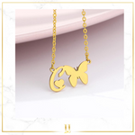 Butterfly A-Z Initial Necklace - Limitless Jewellery