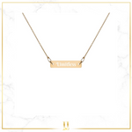 Engraved  Bar Chain Necklace - Limitless Jewellery