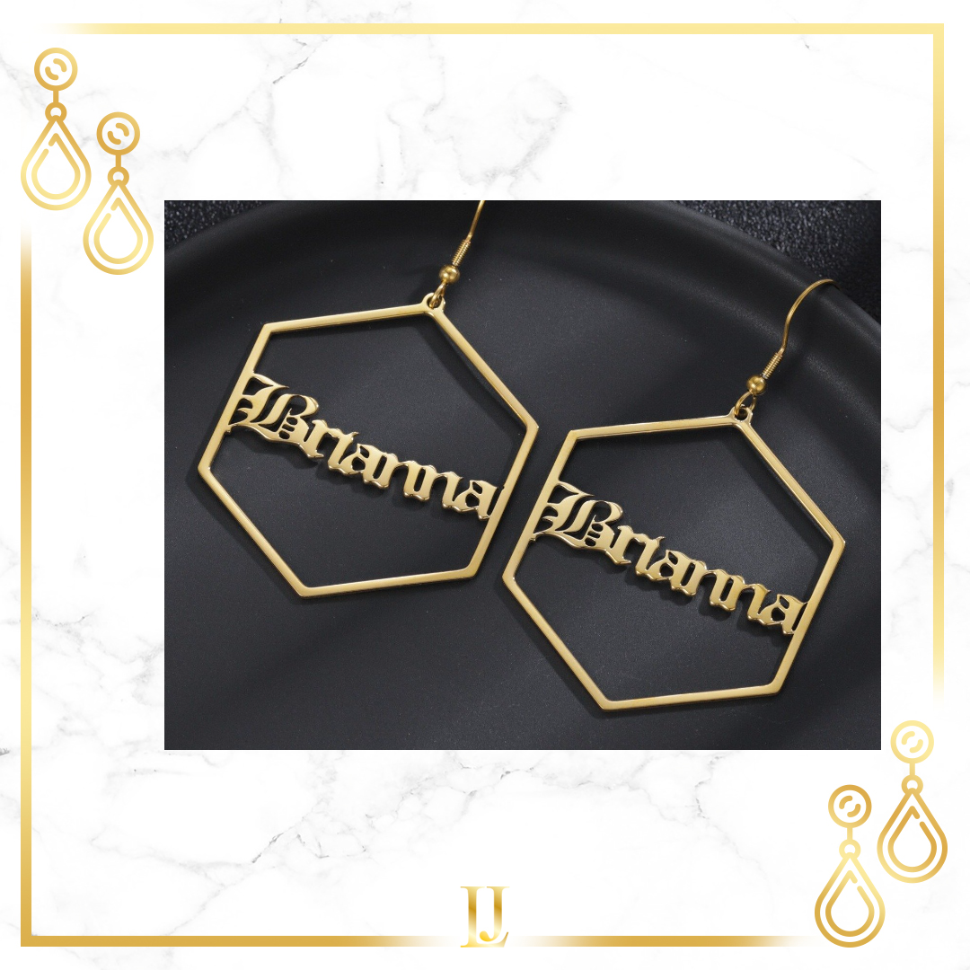 Personalized Geometric Earrings- Limitless Jewellery