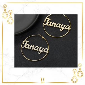 Personalized Iced Classic Hoop Earrings