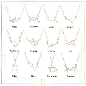 Zodiac Constellation Sign Necklace - Limitless Jewellery