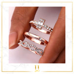 Sila 3Pcs/Set Infinity Rings Set - Limitless Jewellery