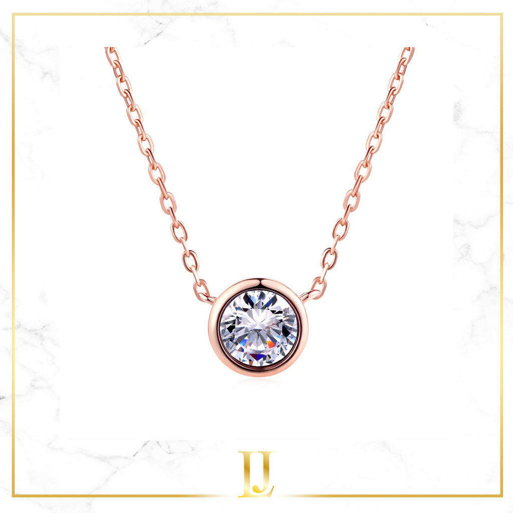 Simply Small Round Pendant Necklace - Limitless Jewellery