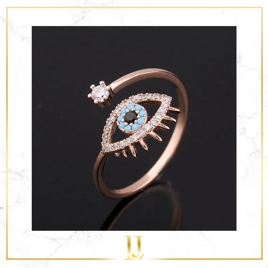 Blue Evil Eye Women Ring - Limitless Jewellery