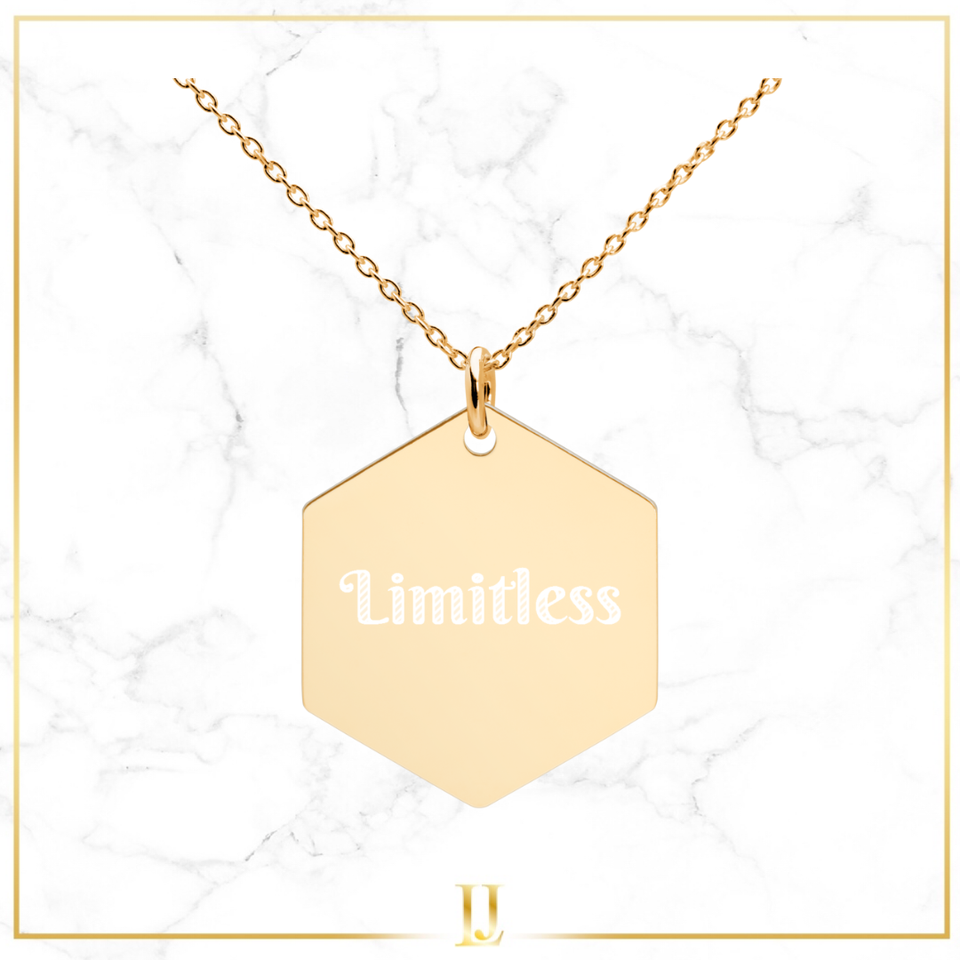 Personalized Hexagon Necklace - Limitless Jewellery
